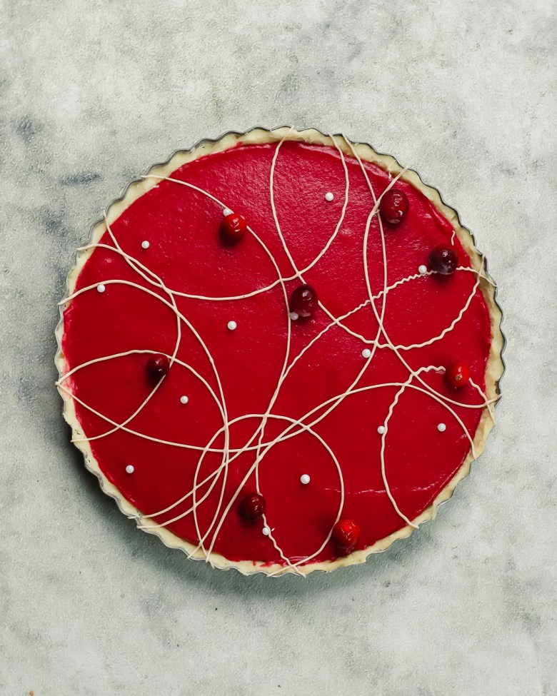 cranberry lime shortbread tart 2