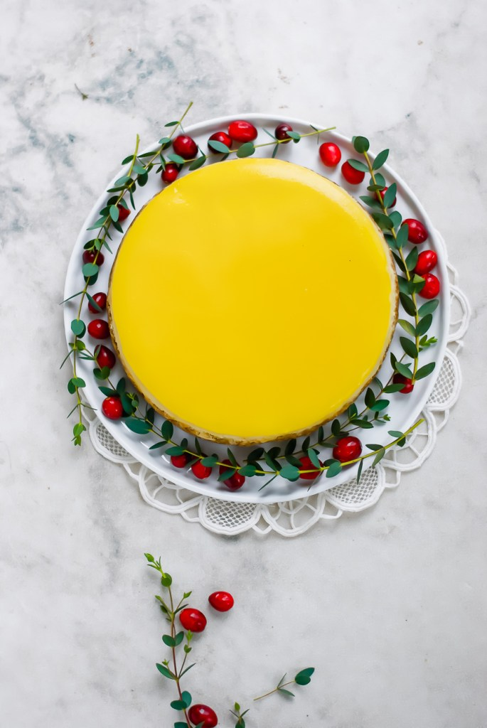 classic cheesecake from above