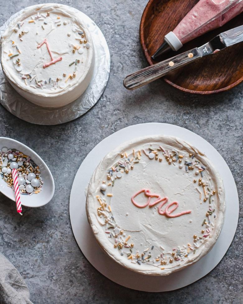 first birthday cake plus smash cake