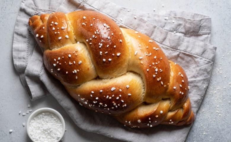 braided sourdough challah