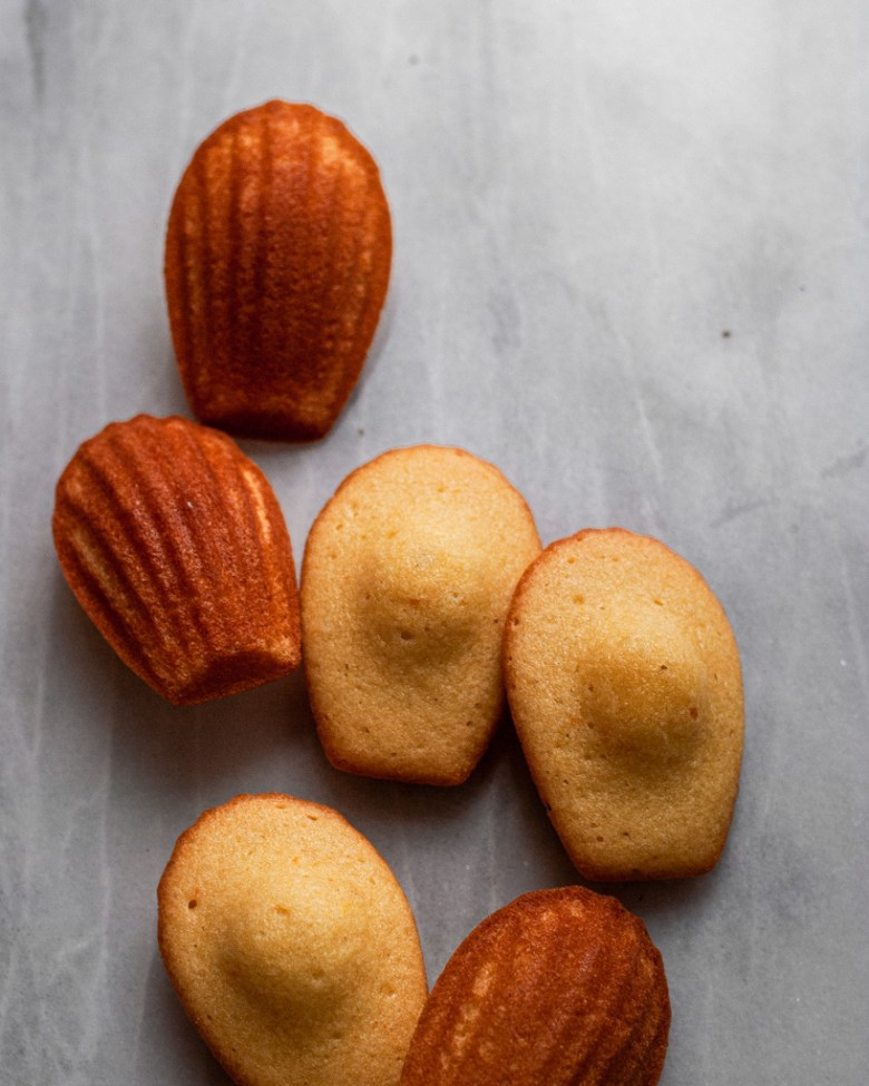 citrus and honey madeleines