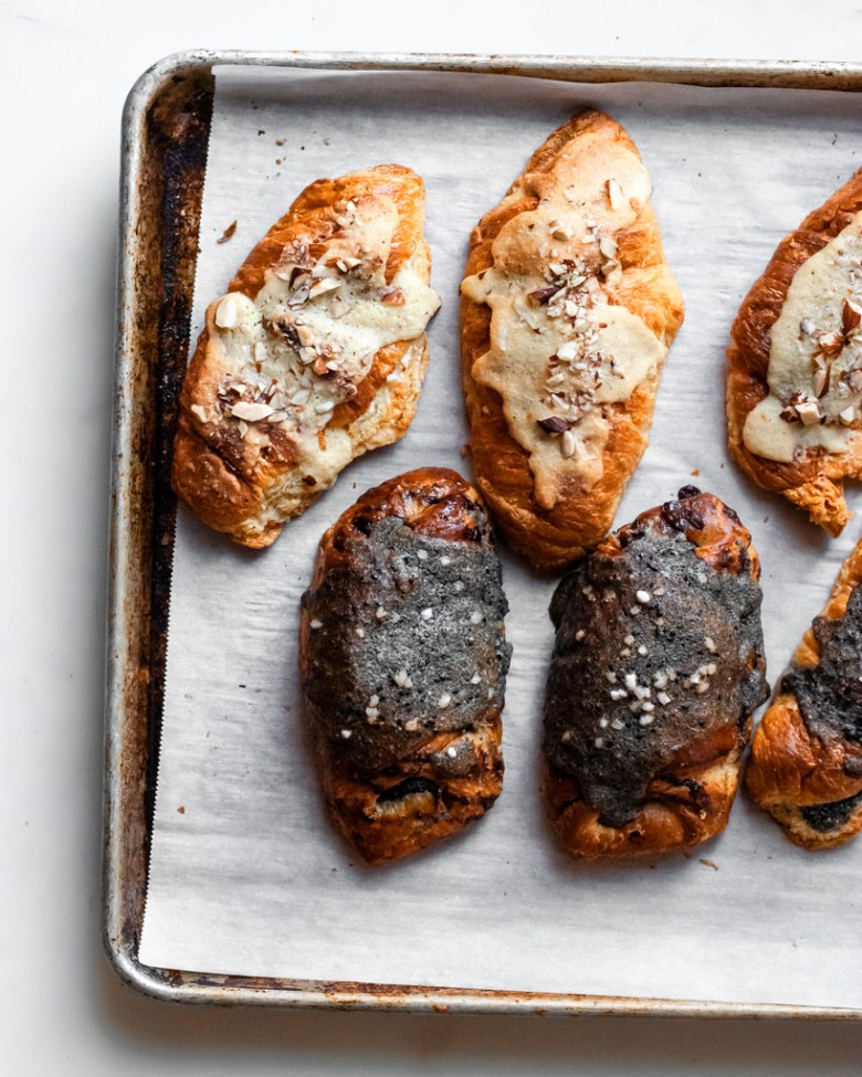 twice baked croissants