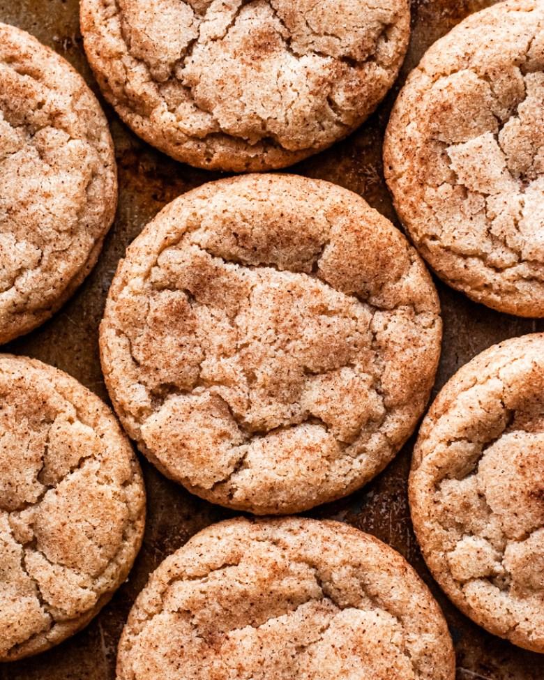brown butter sourdough snickerdoodles