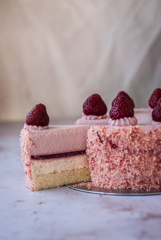 strawberry double fromage cheesecake