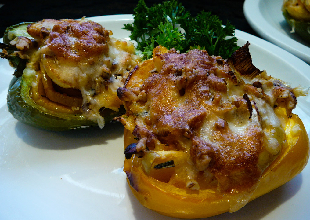 stuffed peppers served 2
