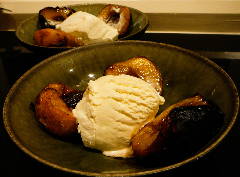 grilled nectarine served 2