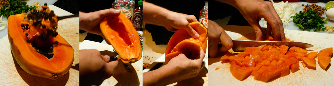 papaya nude-les scoop chop