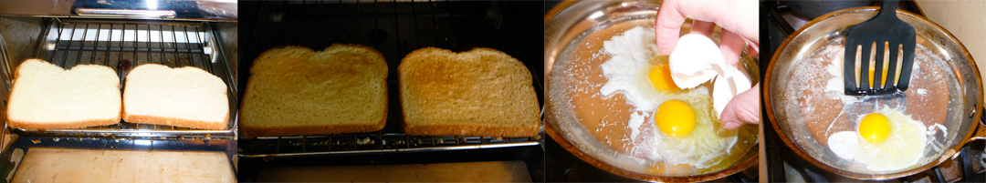 boiled kale breakfast toast poach