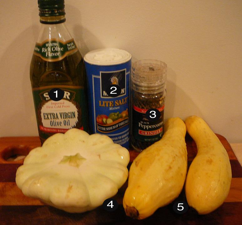 grilled squash prep
