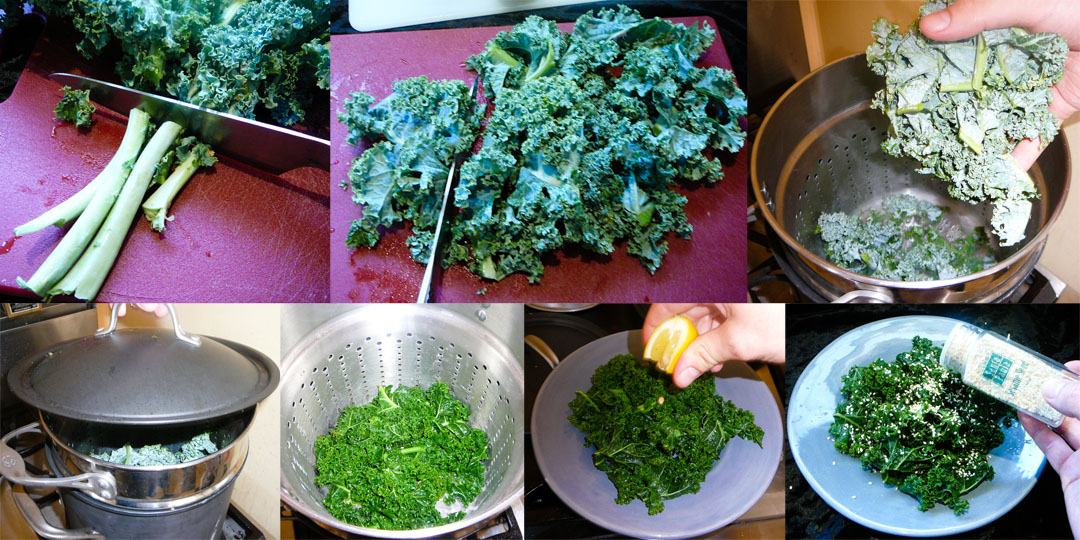 steamed sesame kale chop steam flavor