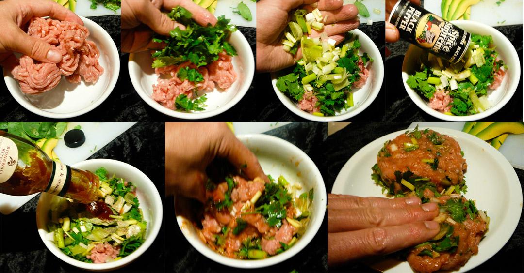Turkey Burger Salad patties