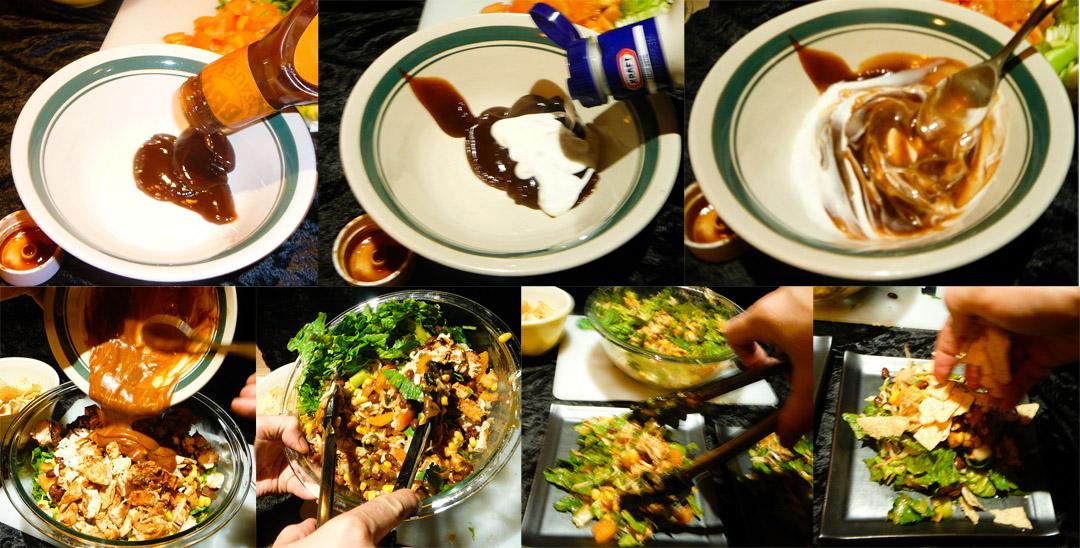 bbq chop chicken salad dressing