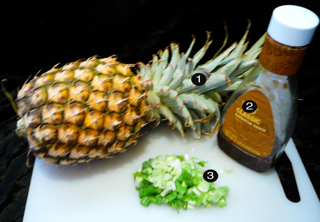 bbq pineapple split prep