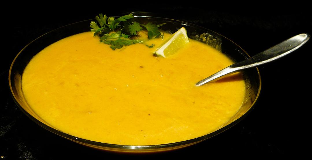 pimpin pumkin soup served