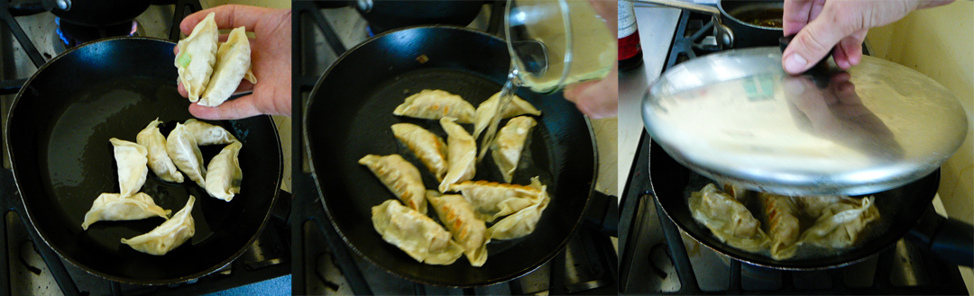 strawberry potstickers panfry