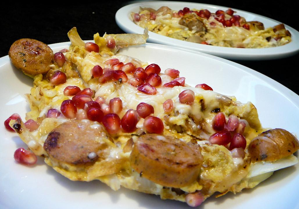 pomegranate scramble served 2
