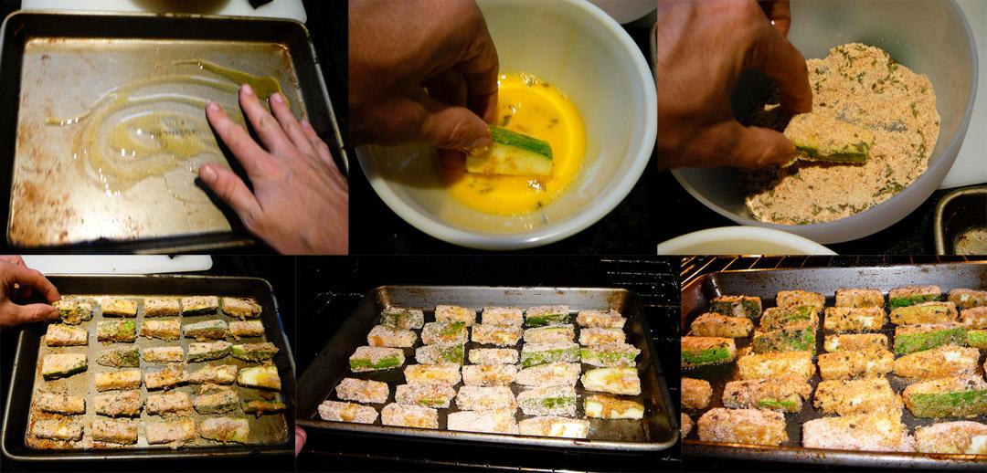 zucchini sticks dip bake