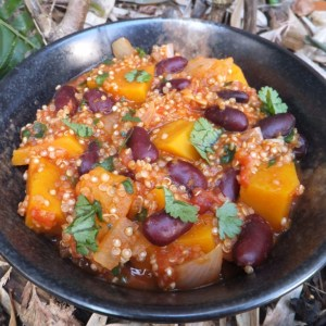 Squash and quinoa chilli