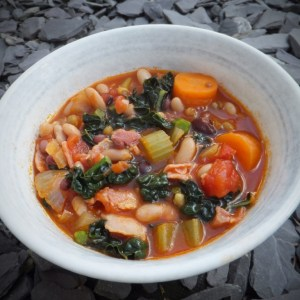 Tuscan-style bean soup with pancetta