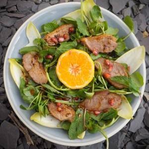 Spiced duck salad