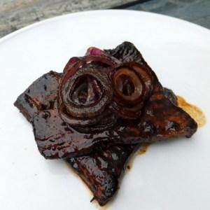Soy-glazed minute steak