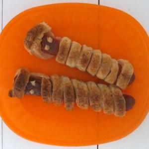 Scary Mummy sausage rolls