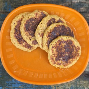 Pumpkin and oatmeal pancakes