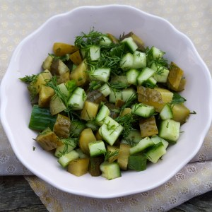 Pickled cucumber salsa