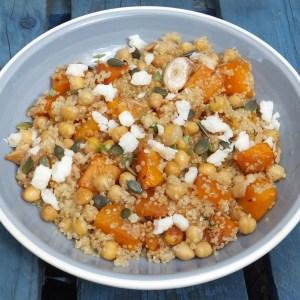 Quinoa, chickpeas and squash salad