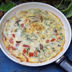 Smoked mackerel omelette