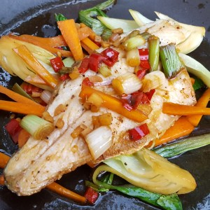 Sea Bass & Stir Fry Vegetables