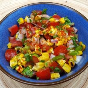 Smoky corn salsa
