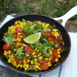 Smoky corn and tomato salad