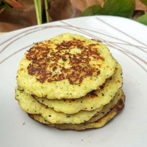 Courgette and yogurt pancakes