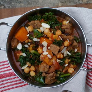 Lamb tagine with kale