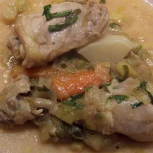 Chicken and apple stew