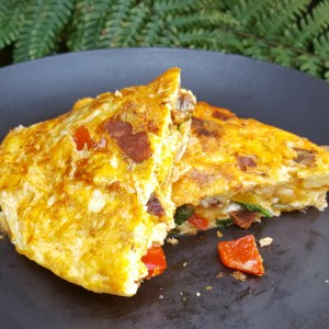 Mexican Omelette with chorizo
