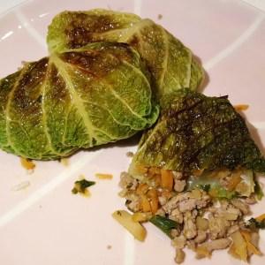Asian-style stuffed cabbage rolls