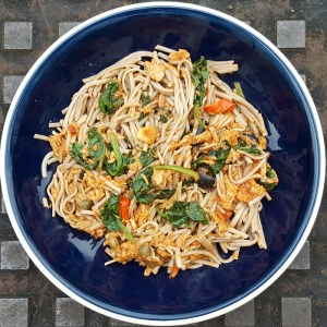 Tuna and spinach pasta