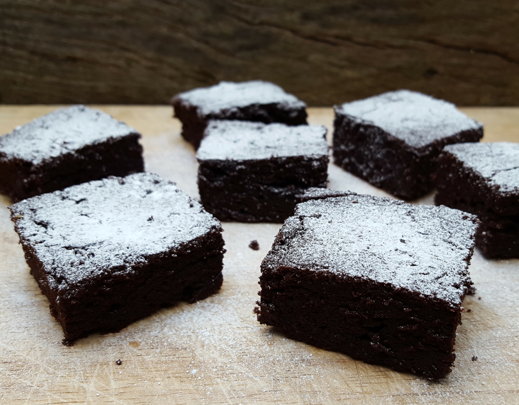 Guinness and orange brownies