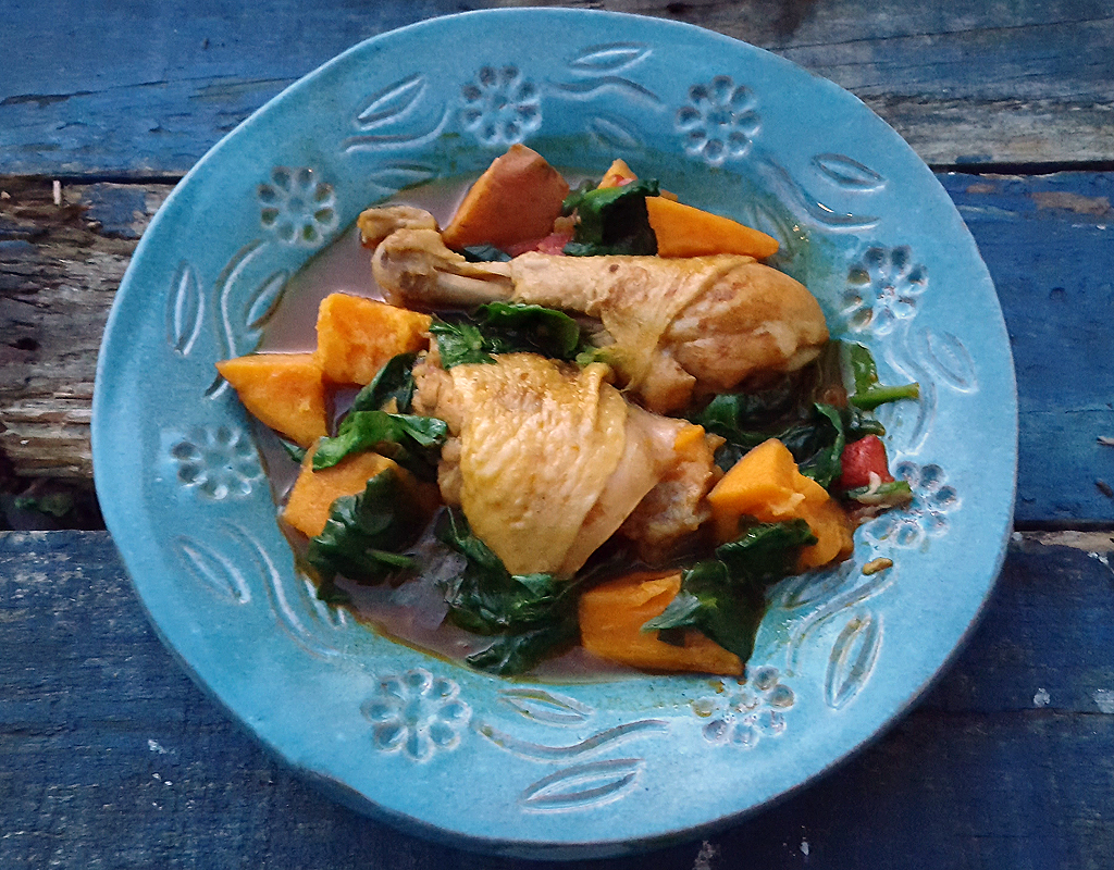 Spiced chicken and sweet potato stew