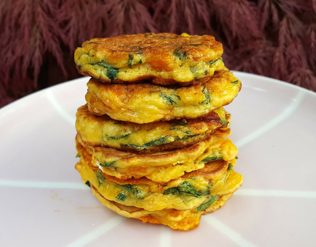 Chorizo & spinach fritters