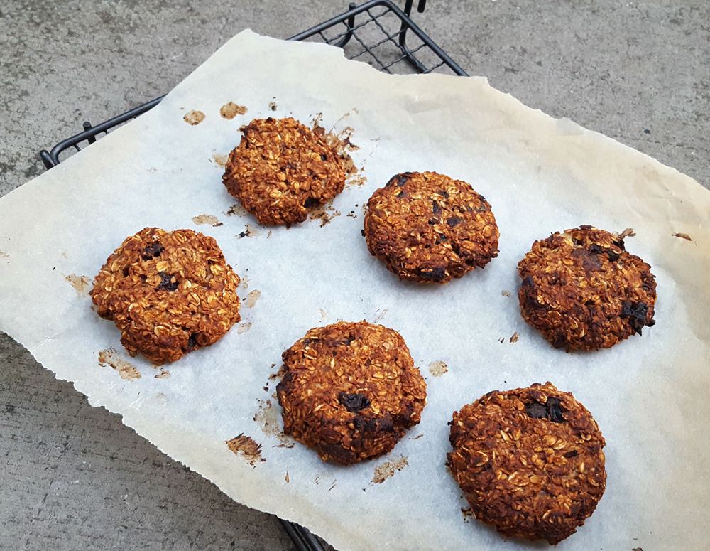 Healthy coconut and oat cookies