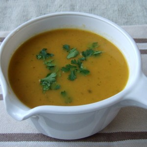 Spiced carrot and coriander soup