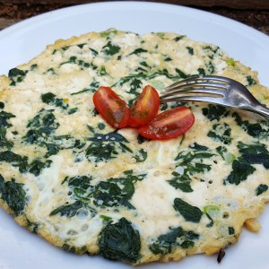 Tofu and spinach omelette