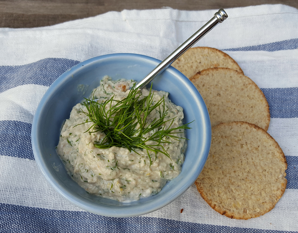 Zingy mackerel pate