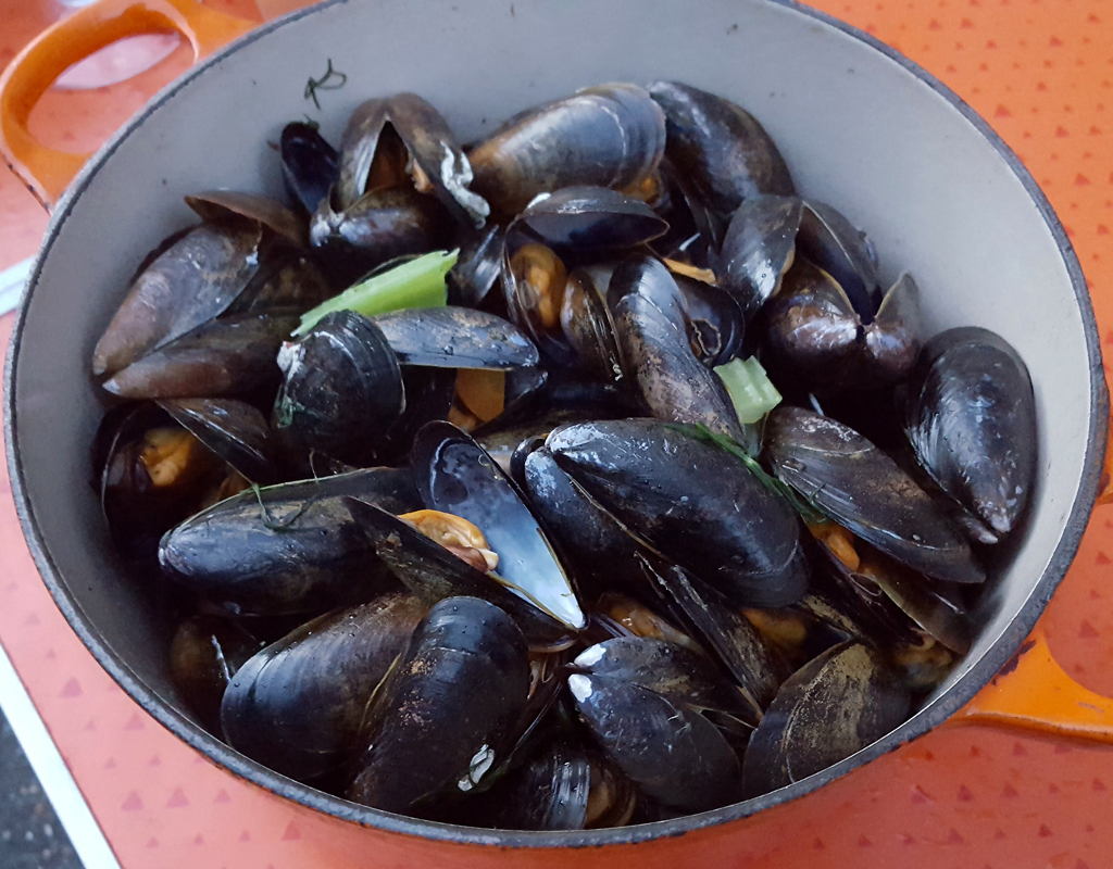 White Wine and Dill Mussels
