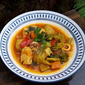 Seafood paprika stew