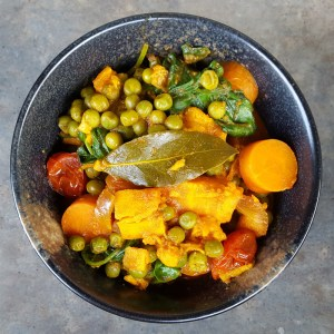 Sweet potato and sweet peas stew