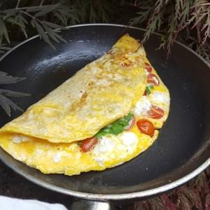 Tomato and feta omelette